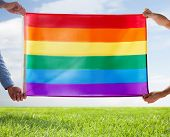picture of gay flag  - people - JPG
