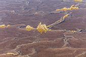 stock photo of salt mines  - detail of salt basins in saline de Janubio - JPG