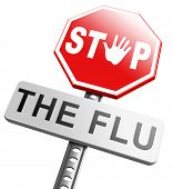 stock photo of flu shot  - flu vaccination shot stop the virus vaccine for immunization - JPG