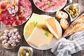 stock photo of charcuterie  - assortment of cheese - JPG