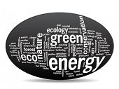 picture of environment-friendly  - Concept or conceptual abstract green ecology and conservation word cloud text on black background - JPG