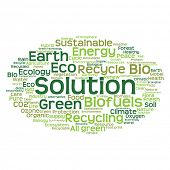 picture of text cloud  - Concept or conceptual abstract green ecology and conservation word cloud text on white background - JPG