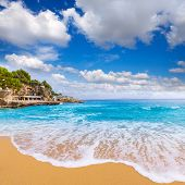 picture of sunny beach  - Majorca Playa de Illetas Balneario beach in Mallorca Bendinat Calvia at Balearic islands of spain - JPG