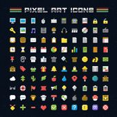 Постер, плакат: Vector Pixel Art Icons