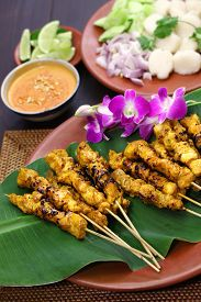picture of sate  - chicken satay - JPG