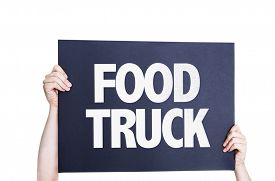 picture of food truck  - Food Truck card isolated on white background - JPG