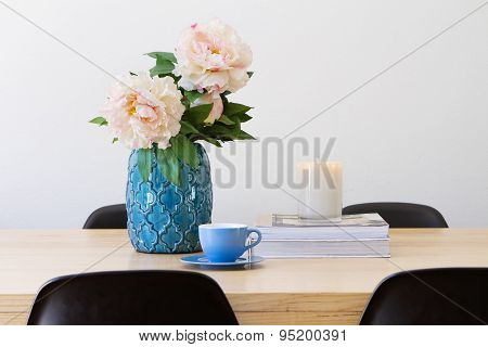 Contemporary Interior Dining Table Horizontal
