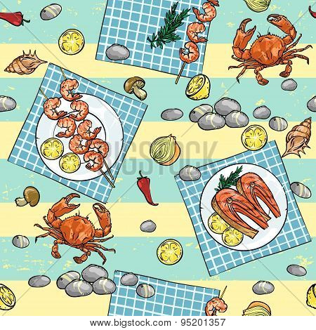 Seafood Grill background