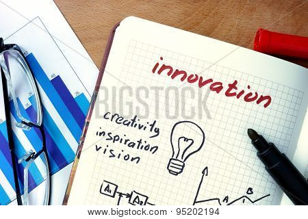 Notepad with Innovation.