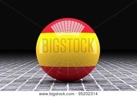 Spain Flag Sphere