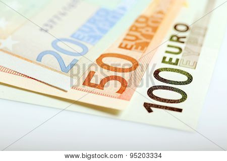 Euro Money Closeup
