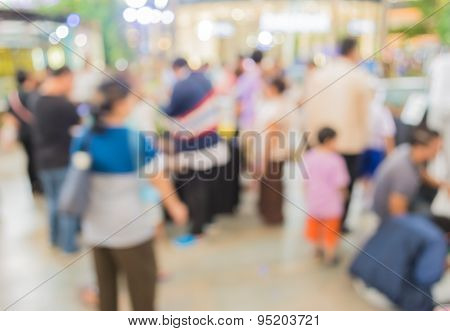 Image Of Blur People At Pet Show