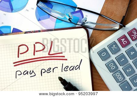 Notepad with Pay per lead PPL.