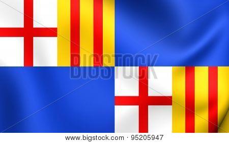 Flag Of Barceloneta, Puerto Rico.