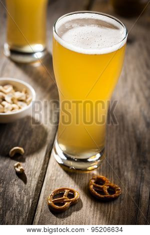 Light Beer With Snacks