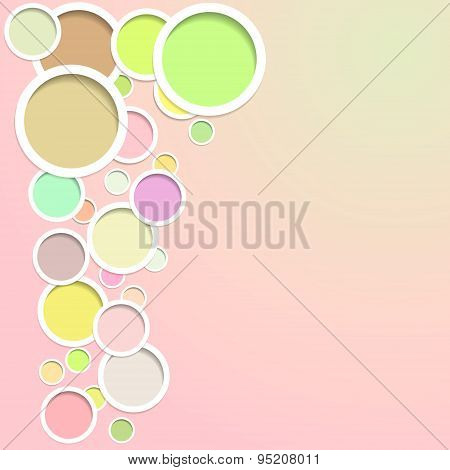 Light Background With Circle.