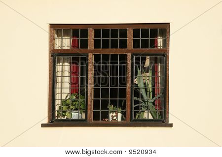 Historic Wooden Lead Light Window