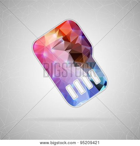 Abstract creative concept vector icon of sim card. For web and mobile content isolated on background