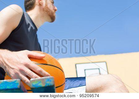 man with basketball