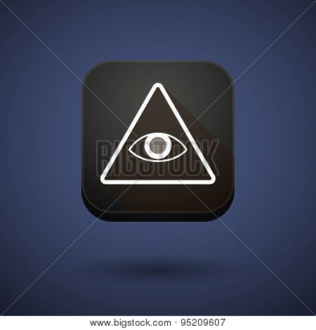 App Button With An All Seeing Eye