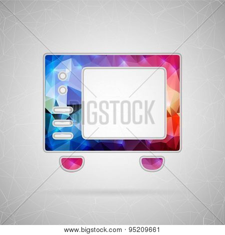 Abstract creative concept vector icon of microwave. For web and mobile content isolated on backgroun