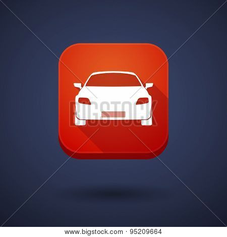 App Button With A Car