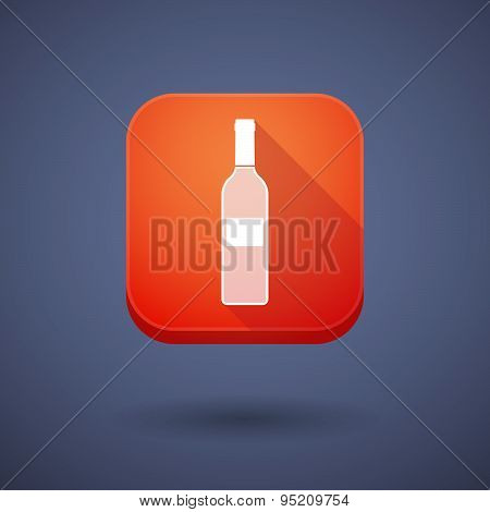 App Button With A Bottle Of Wine