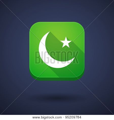 App Button With An Islam Sign