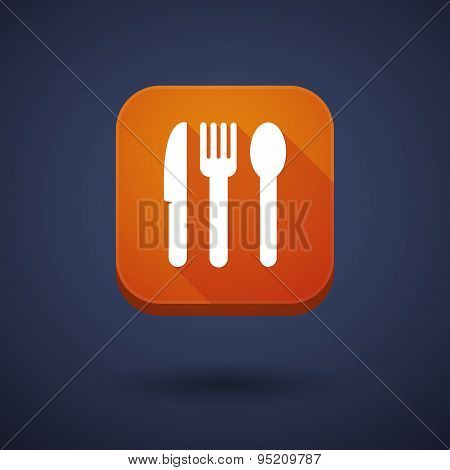 App Button With Cutlery