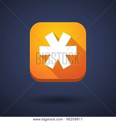 App Button With An Asterisk