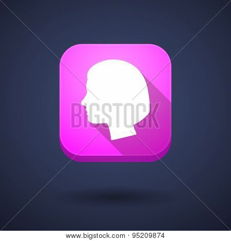 App Button With A Female Head