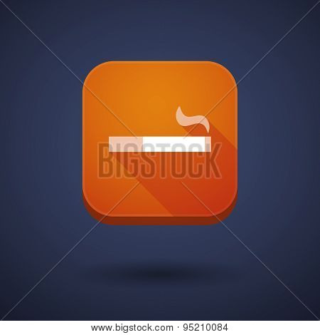 App Button With A Cigarette
