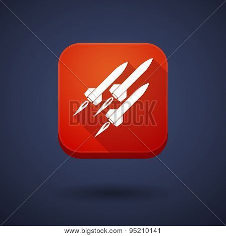 App Button With Missiles