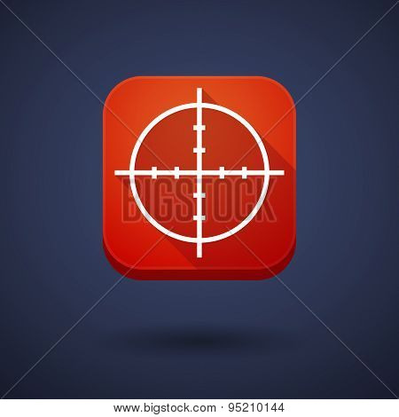 App Button With A Crosshair