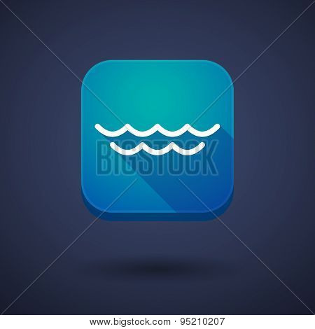 App Button With A Water Sign