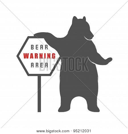 Bear With Sign