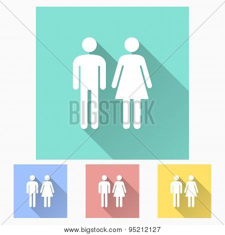 Man And Woman Restroom Icon