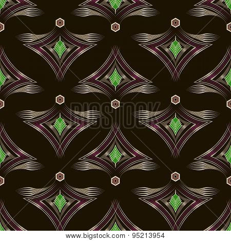 Seamless Pattern Graphic Ornament. Floral Stylish Background. Vector Repeating Texture