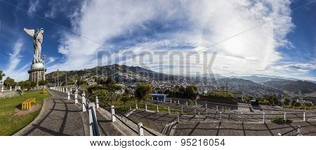 Large Panorama Of Quito.