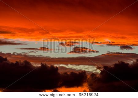 Dramatic Stormy Sky At Sunset