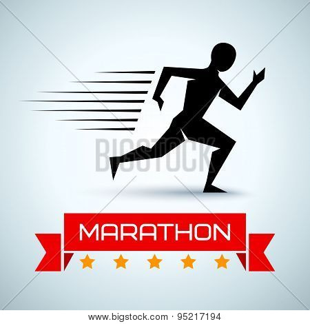 sport logo for a running