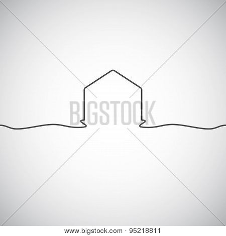 Abstract architecture building silhouette logo design template. Skyscraper real estate