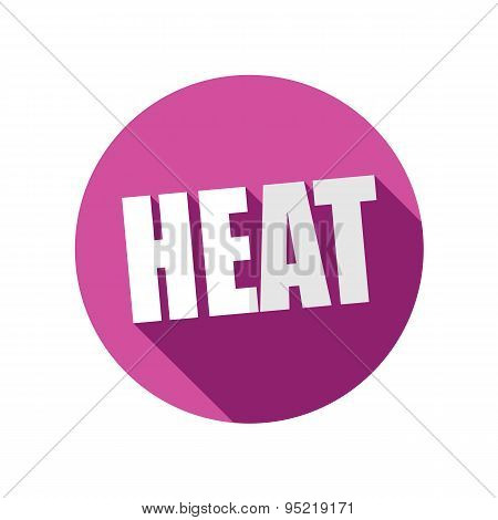Heat Flat Icon With Long Shadow