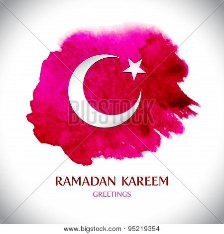 Beautiful modern Ramadan Kareem greeting card. Vector illustrati