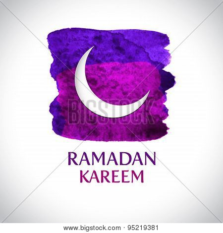 Beautiful modern Ramadan Kareem greeting card background. Vector