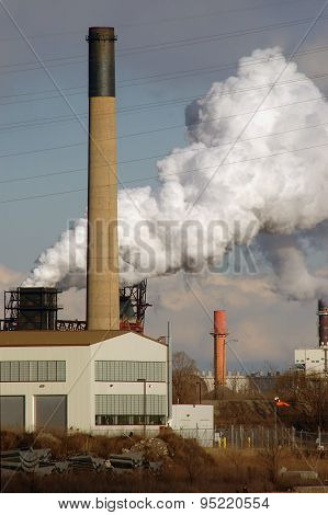 Factory Steam Plume