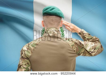 National Military Forces With Flag On Background Conceptual Series - Guatemala