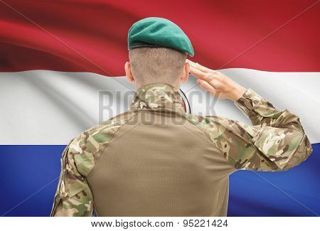 National Military Forces With Flag On Background Conceptual Series - Paraguay