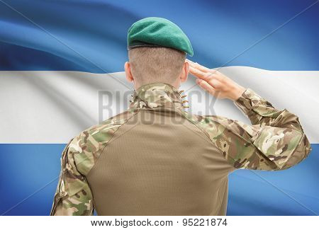 National Military Forces With Flag On Background Conceptual Series - Argentina