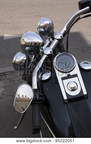 Harley Davidson Motorcycle Close Up